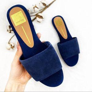 NWOT Dolce Vita | Navy Dori Suede Slide Sandals